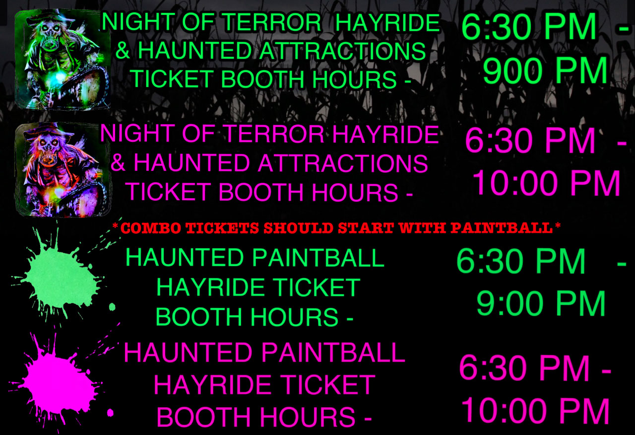 Night of Terror Hours